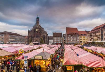 2018年のドイツ「ニュルンベルク」のクリスマスクリスマスマーケット
